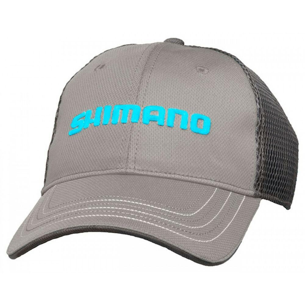 Shimano honeycomb mesh cap adjustable fishing hat grey for Mesh fishing hats