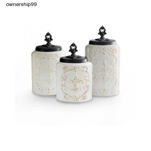 ceramic canister set white kitchen canisters storage flour