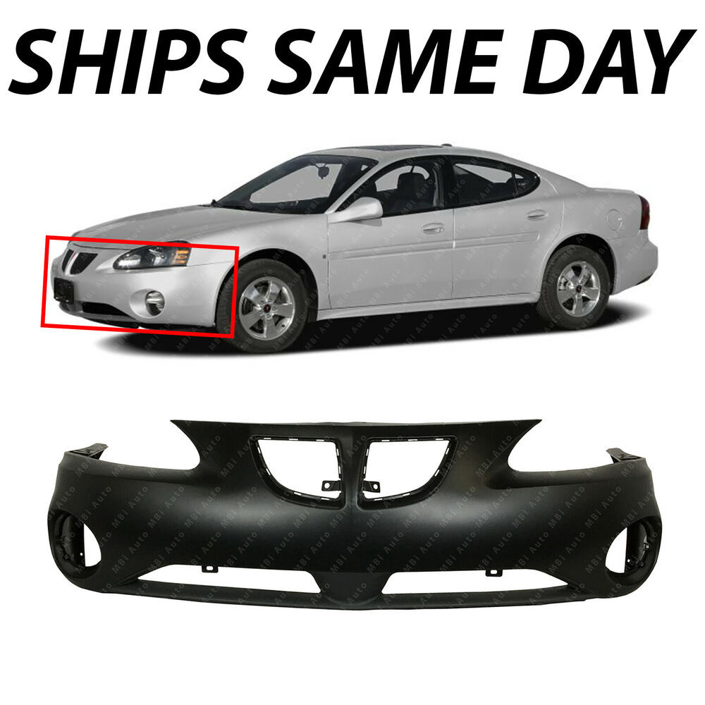 New Primered Front Bumper Cover Fascia For 2004 2008