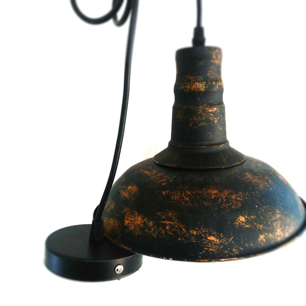 Retro Vintage Rust Pendant Lamp Kitchen Bar Dining Hanging