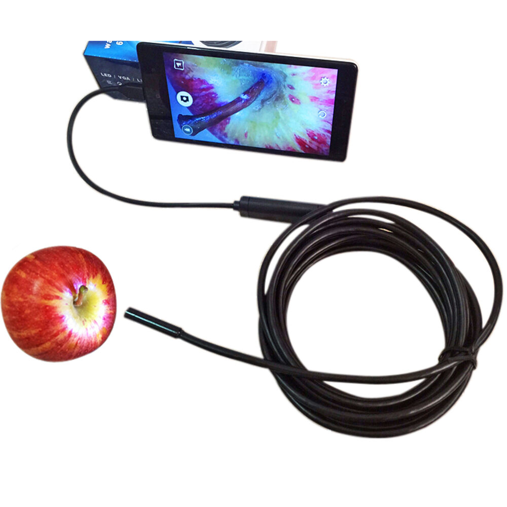 7MM Lens Waterproof Android/PC Endoscope Inspection Borescope Tube ...