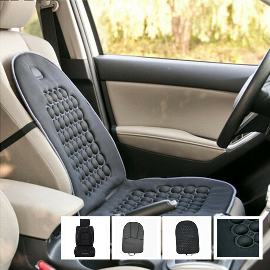 car seat cushion therapy massage padded bubble foam chair black auto pad cover ebay. Black Bedroom Furniture Sets. Home Design Ideas