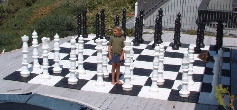 Details About Giant Plastic Chess Set With A 49 King Garden Outdoor