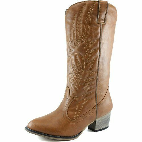 Perfect New Womens Comfort Knee High Cowboy Slouch Buckle Boots BIBI75  EBay
