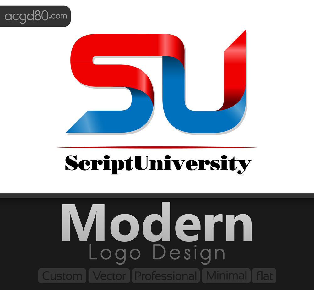 Modern Logo Design with Revisions + Custom, Vector, Professional, Flat ...