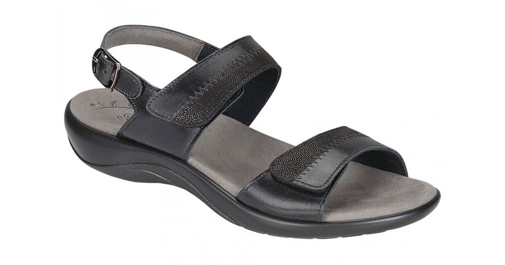 New Sandal Total Support Yumi 39422 Black Thong Womens Shoes Arch Support