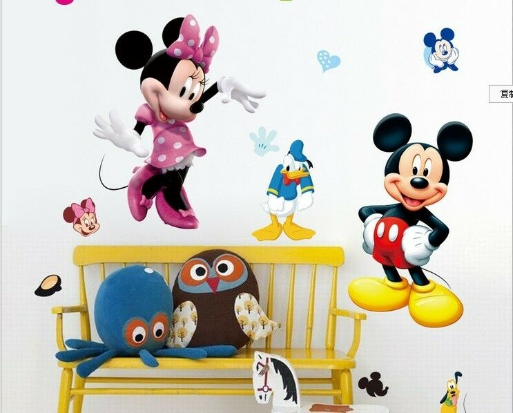 micky maus wandtattoo wandsticker xxl 115cm x 50cm mickey mouse kinderzimmer 3 ebay. Black Bedroom Furniture Sets. Home Design Ideas