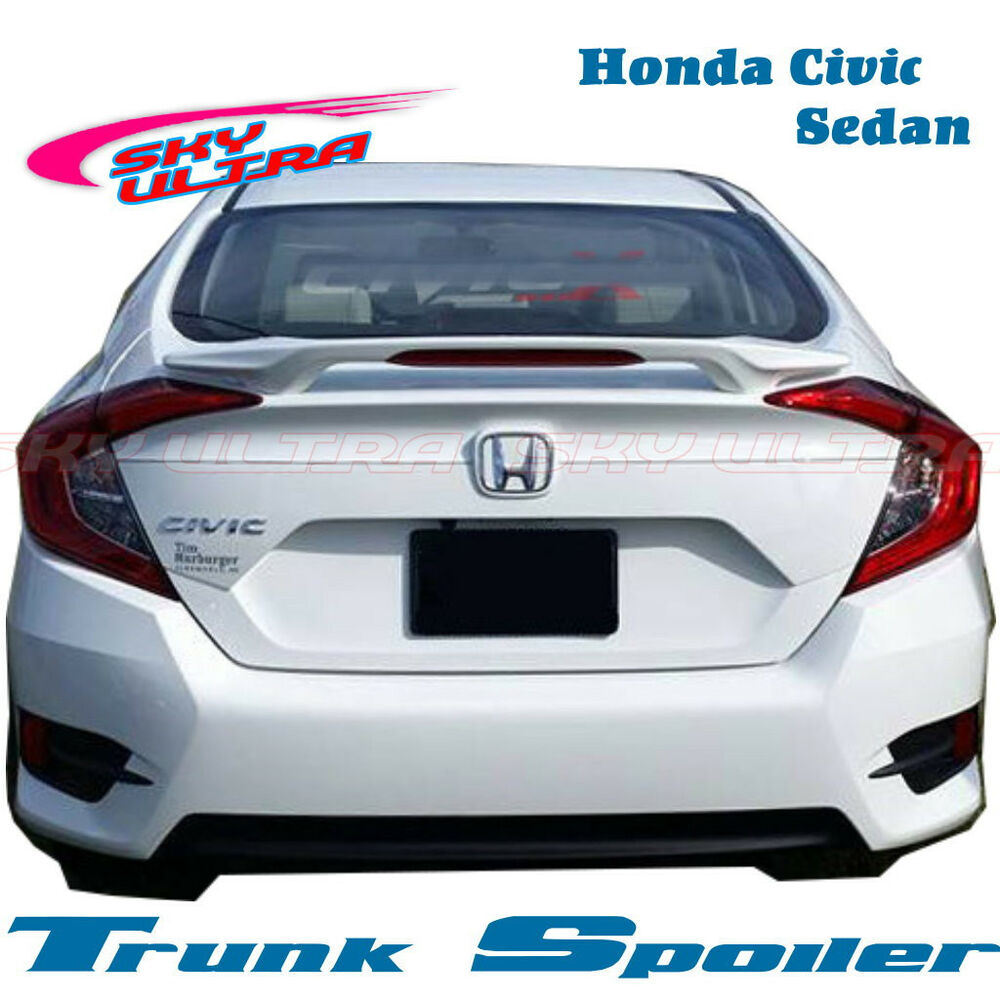 Painted oe type trunk spoiler wing for honda 2016 civic for Honda civic trunk