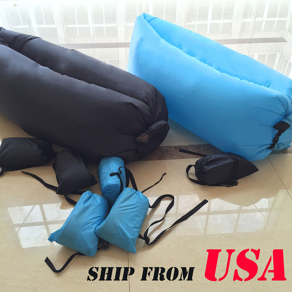 Inflatable Lawn Furniture: Fast Inflatable Air Bag Sofa Outdoor Beach Camping
