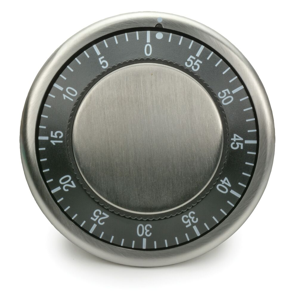 RSVP Easy Read Kitchen Timer Black Magnetic Durable