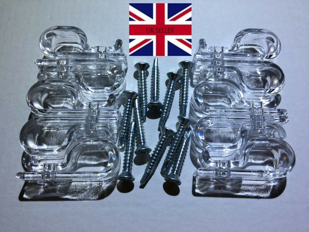 10 X Child Safety Clear Quot P Quot Clip Cleat For Roller Vertical