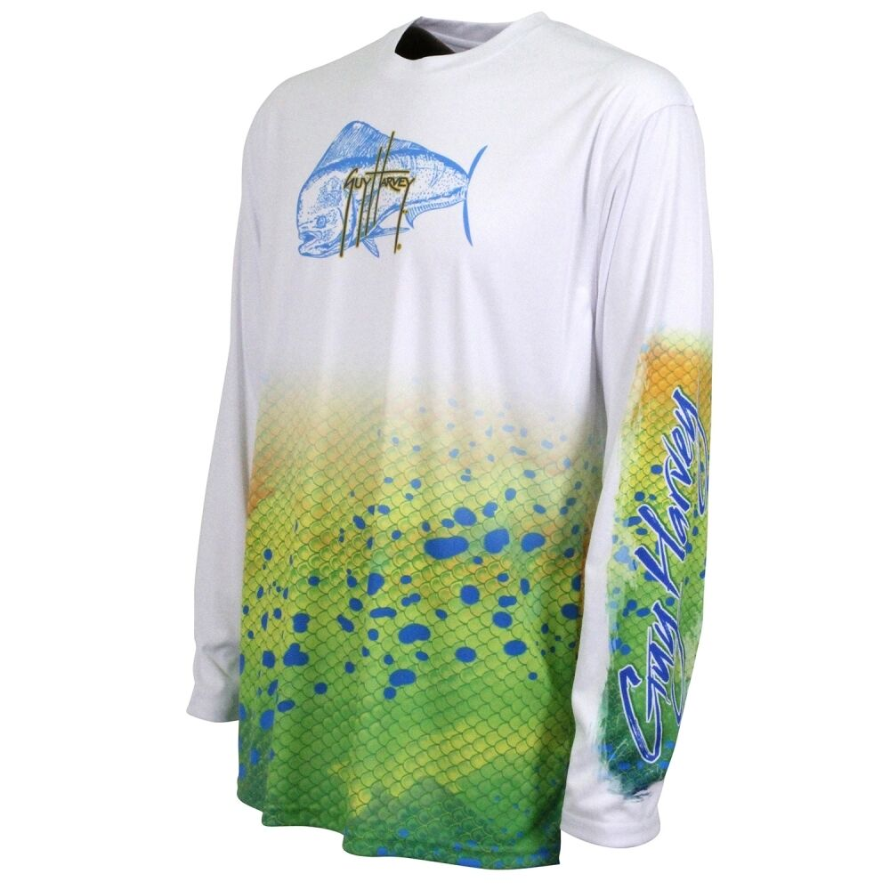 Guy Harvey Ultra Pro Uvx Dorado Performance Fishing Shirt