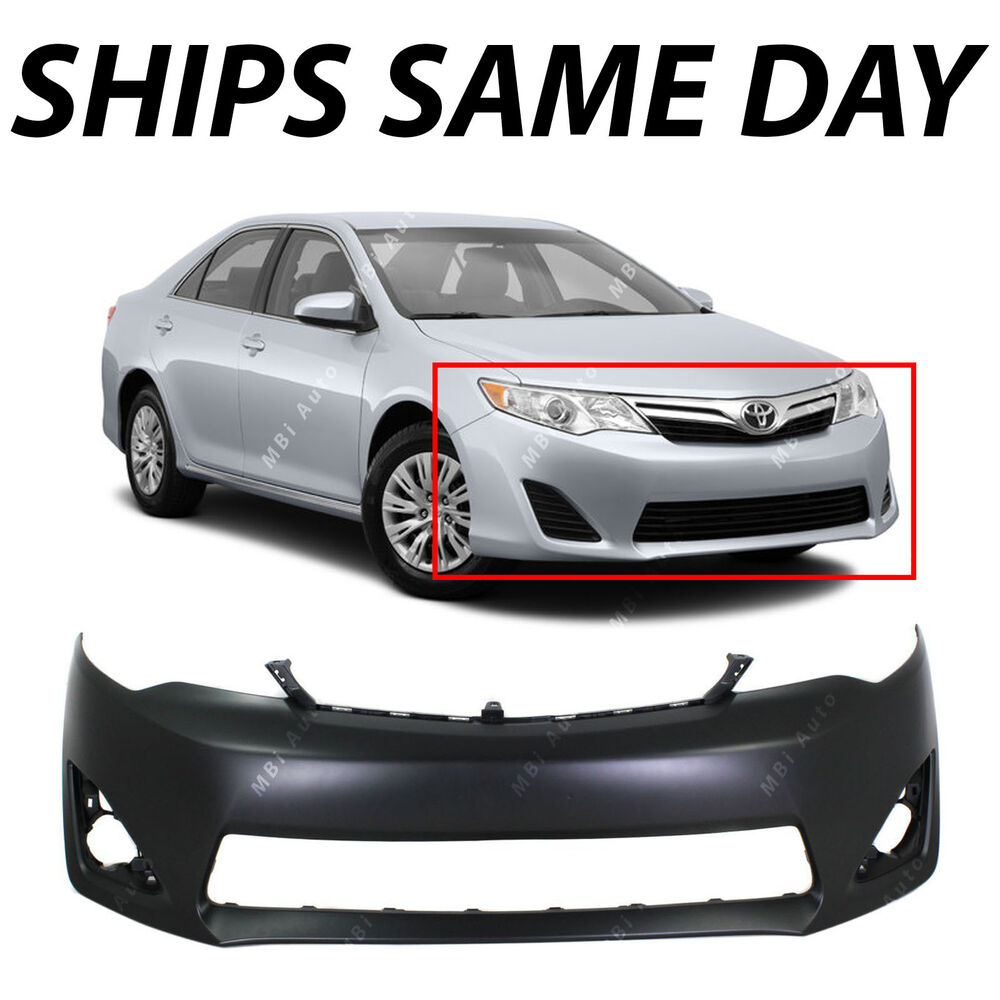 primered front bumper cover fascia for 2012 2014 toyota camry xle l e 12 14 ebay. Black Bedroom Furniture Sets. Home Design Ideas