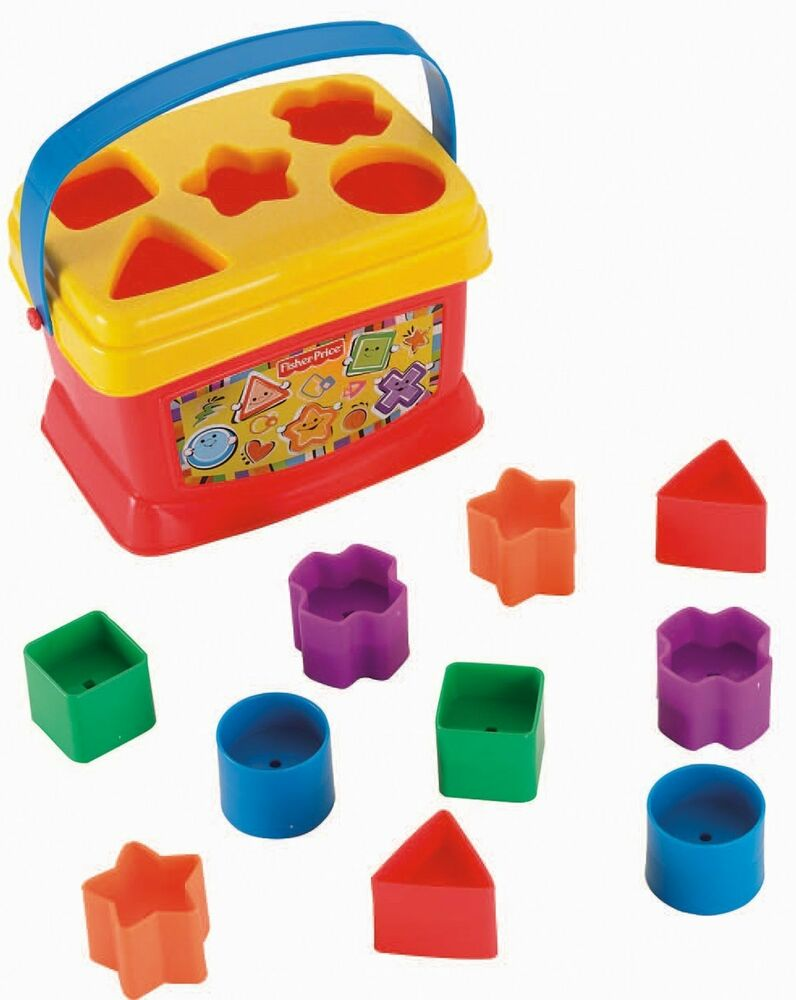 L K Fisher Price Y9078 Basic Blocks Plastic Stacking