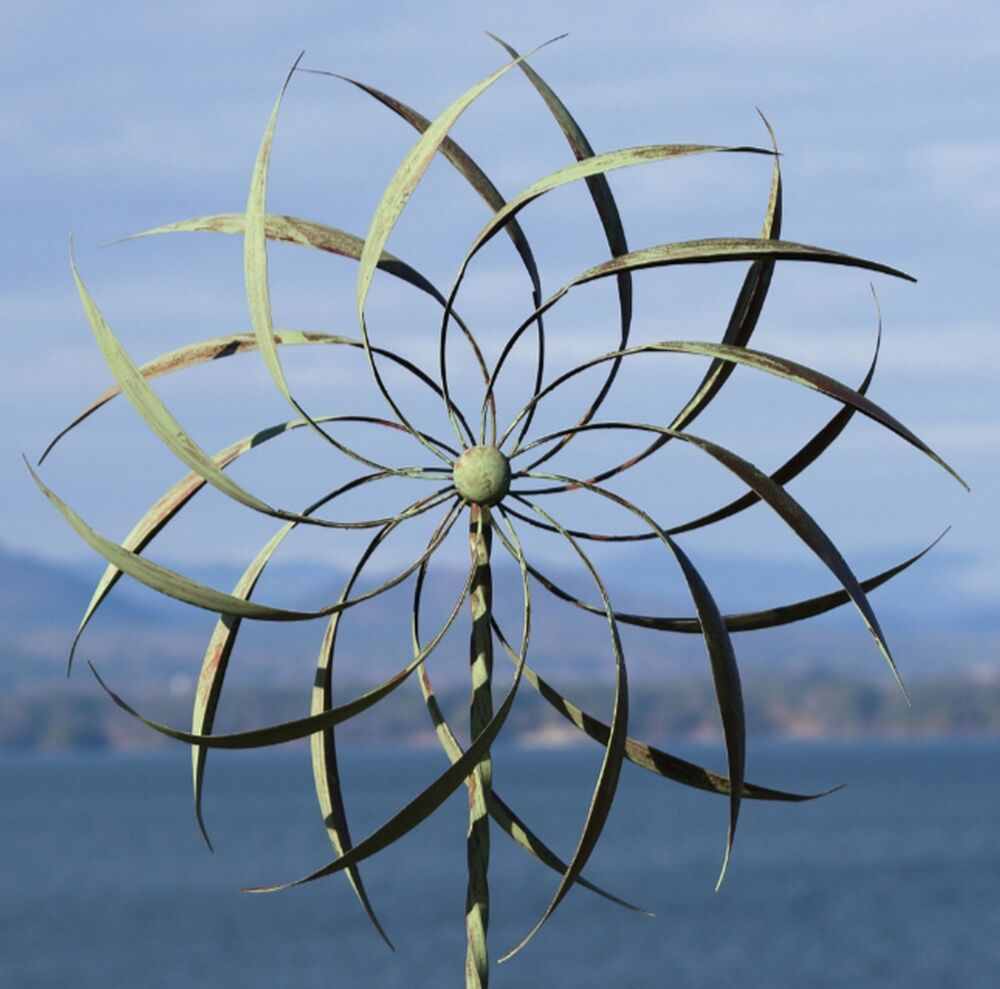 New Garden Wind Spinner Windmill Yard Decor Kinetic Metal