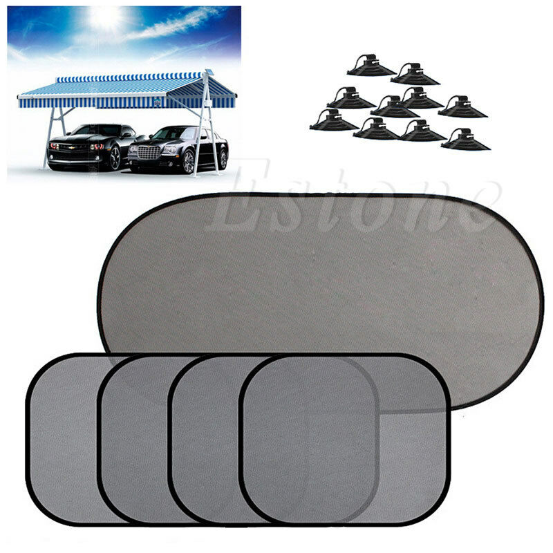 5pcs screen mesh sunshade sun shade cover for car side rear window uv protection ebay. Black Bedroom Furniture Sets. Home Design Ideas