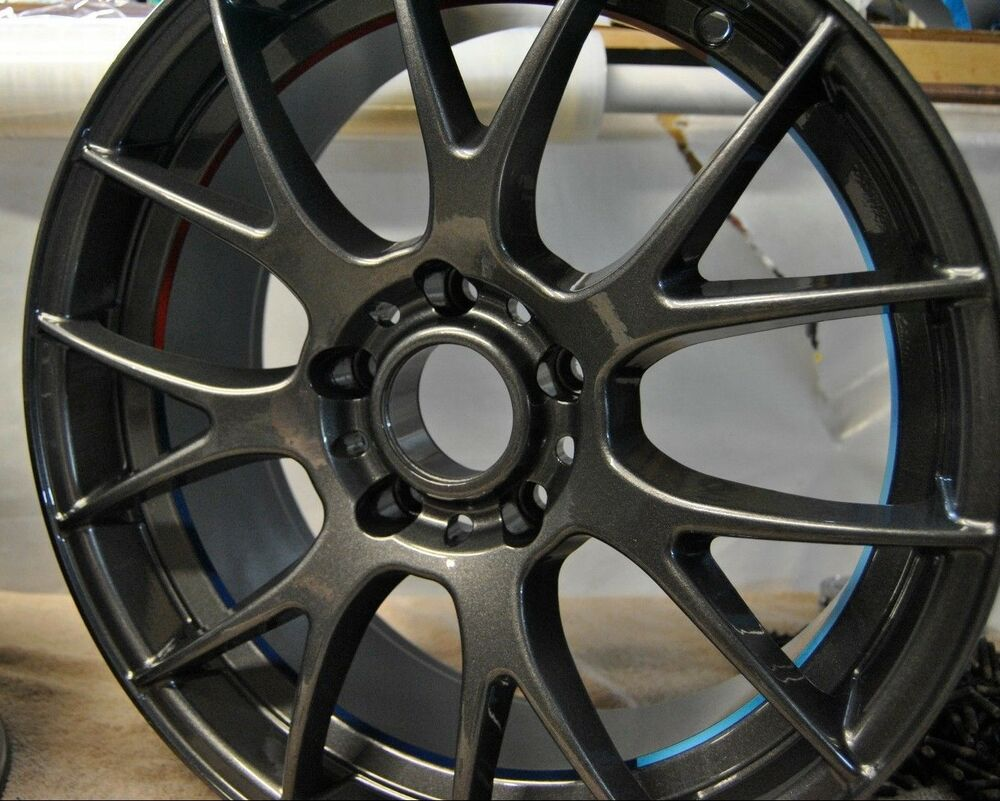 Alloy Wheels Painting >> Gloss Transp Candy GUNMETAL GREY powder coating paint, 1Lb/0.45kg | eBay