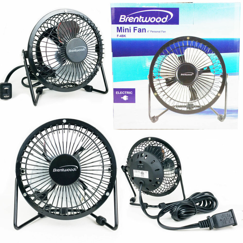 Small Aluminum Fan Blades : Mini fan electric quot personal desk black metal blade
