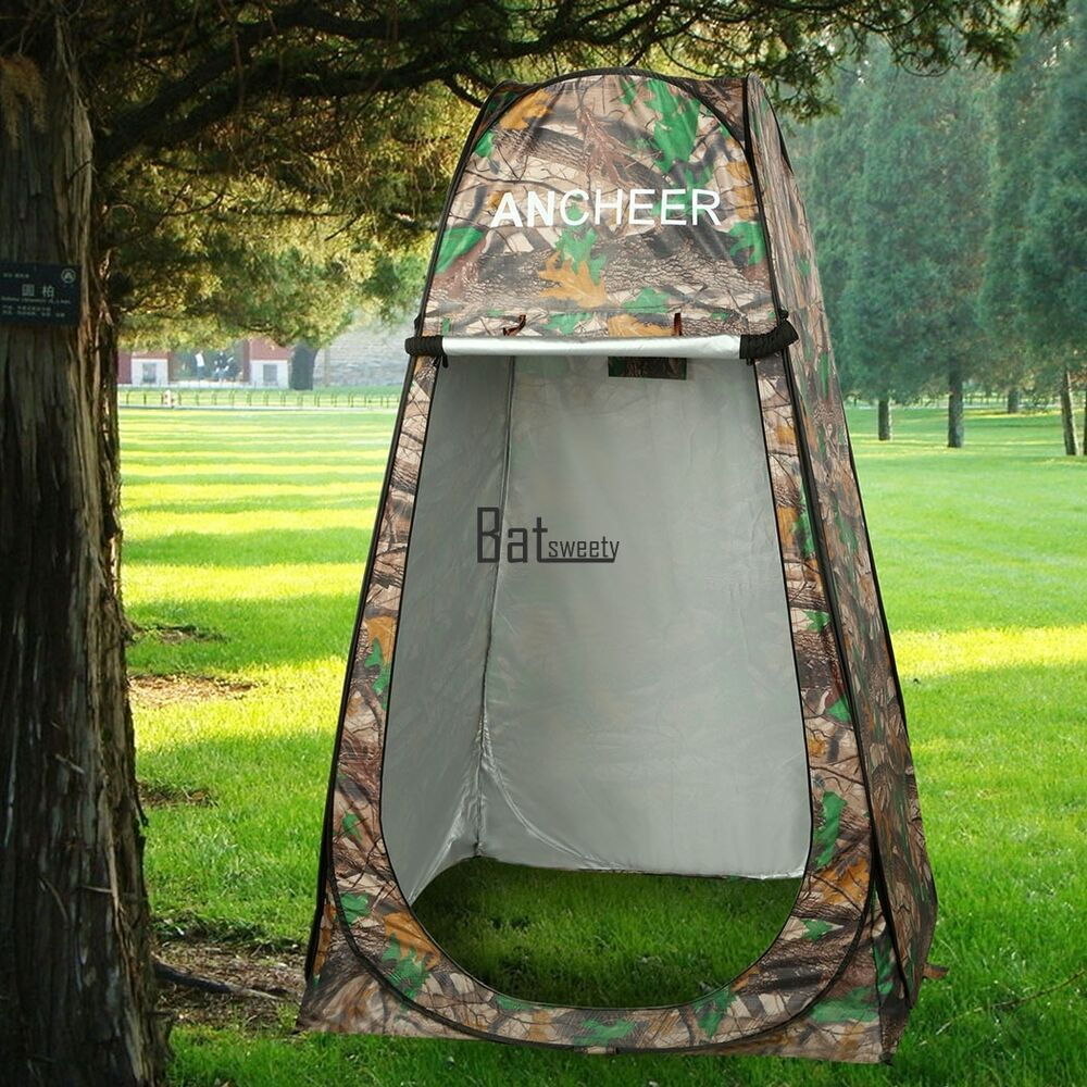 portable pop up camping fishing bathing shower toilet changing tent bath tent us ebay. Black Bedroom Furniture Sets. Home Design Ideas