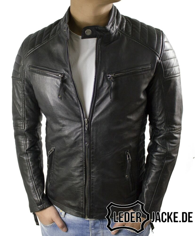 herren echt biker lederjacke dante in schwarz s 3xl. Black Bedroom Furniture Sets. Home Design Ideas