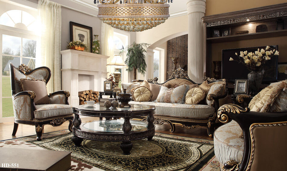 Formal Classic European Style Luxury 3 Piece Living Room Set HD 551 EBay