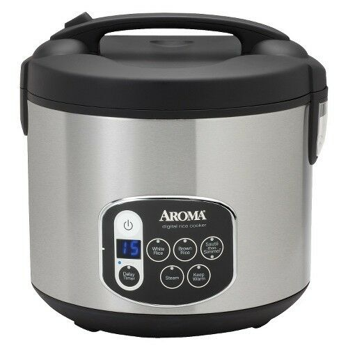 Aroma Digital Rice Cooker Aroma 20 Cup Digital Rice Cooker - Stainless Steel | eBay