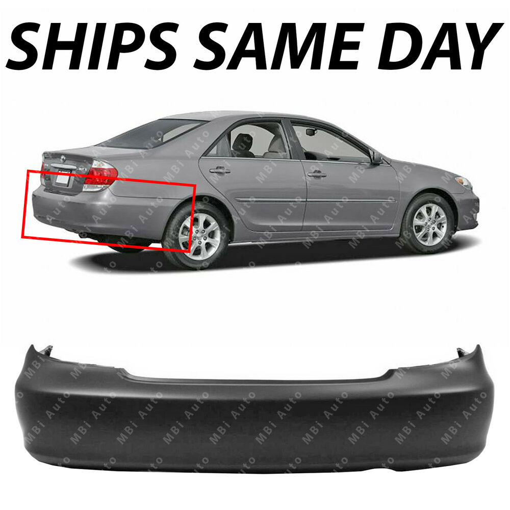 new primered rear bumper cover replacement for 2002 2006 toyota camry usa 02 06 ebay. Black Bedroom Furniture Sets. Home Design Ideas