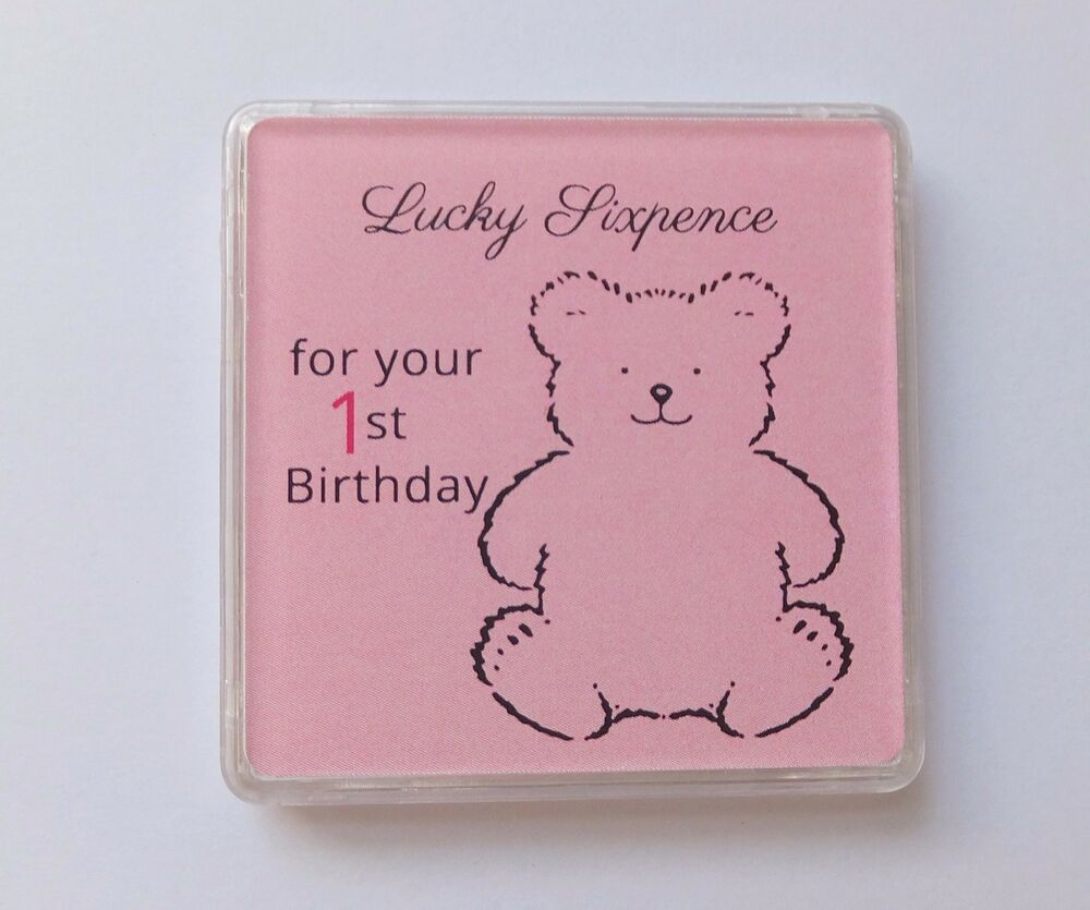 Keepsake 1st Birthday Gifts: BABY GIRL First 1st Birthday LUCKY SIXPENCE KEEPSAKE Coin