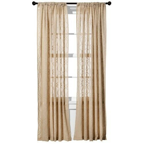 Threshold Clipped Sheer Curtain Panel | eBay
