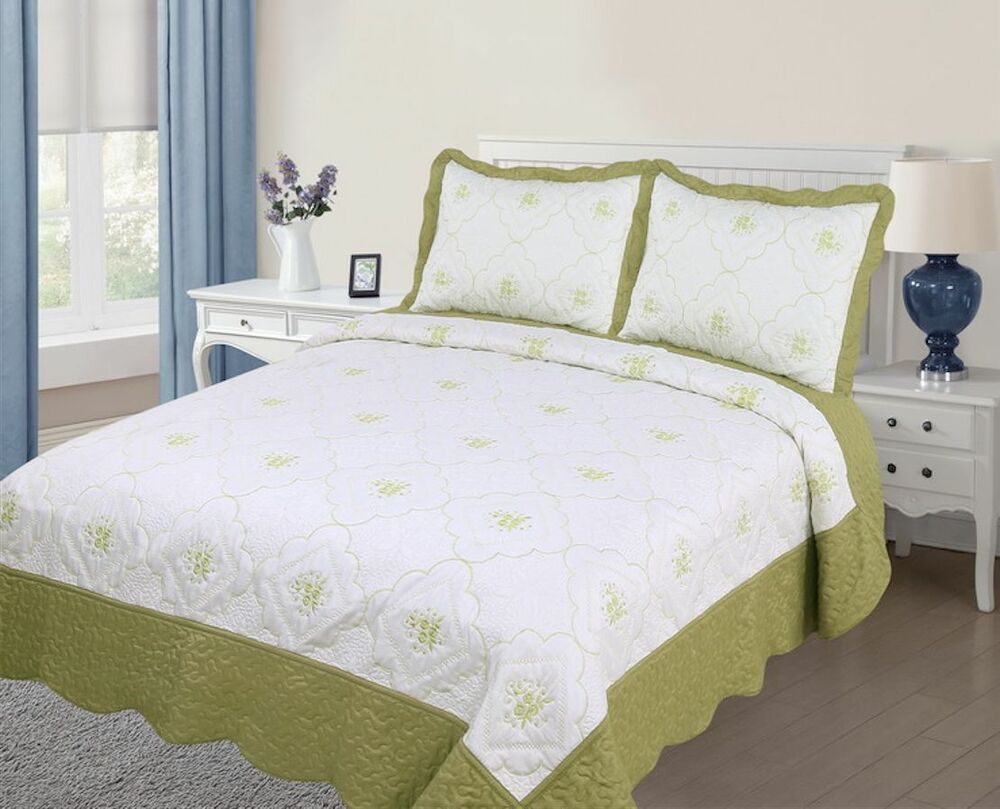 3pc Quilted Bedspread Cover Oversized High Quality