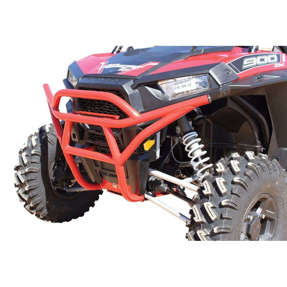 dragonfire racing red utv front bumper for polaris rzr s. Black Bedroom Furniture Sets. Home Design Ideas