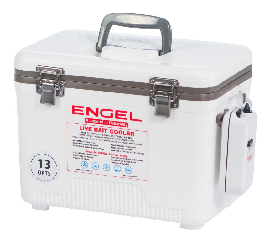 Charge Air Cooler Ice Box : Qt live bait cooler dry box air pump white fishing