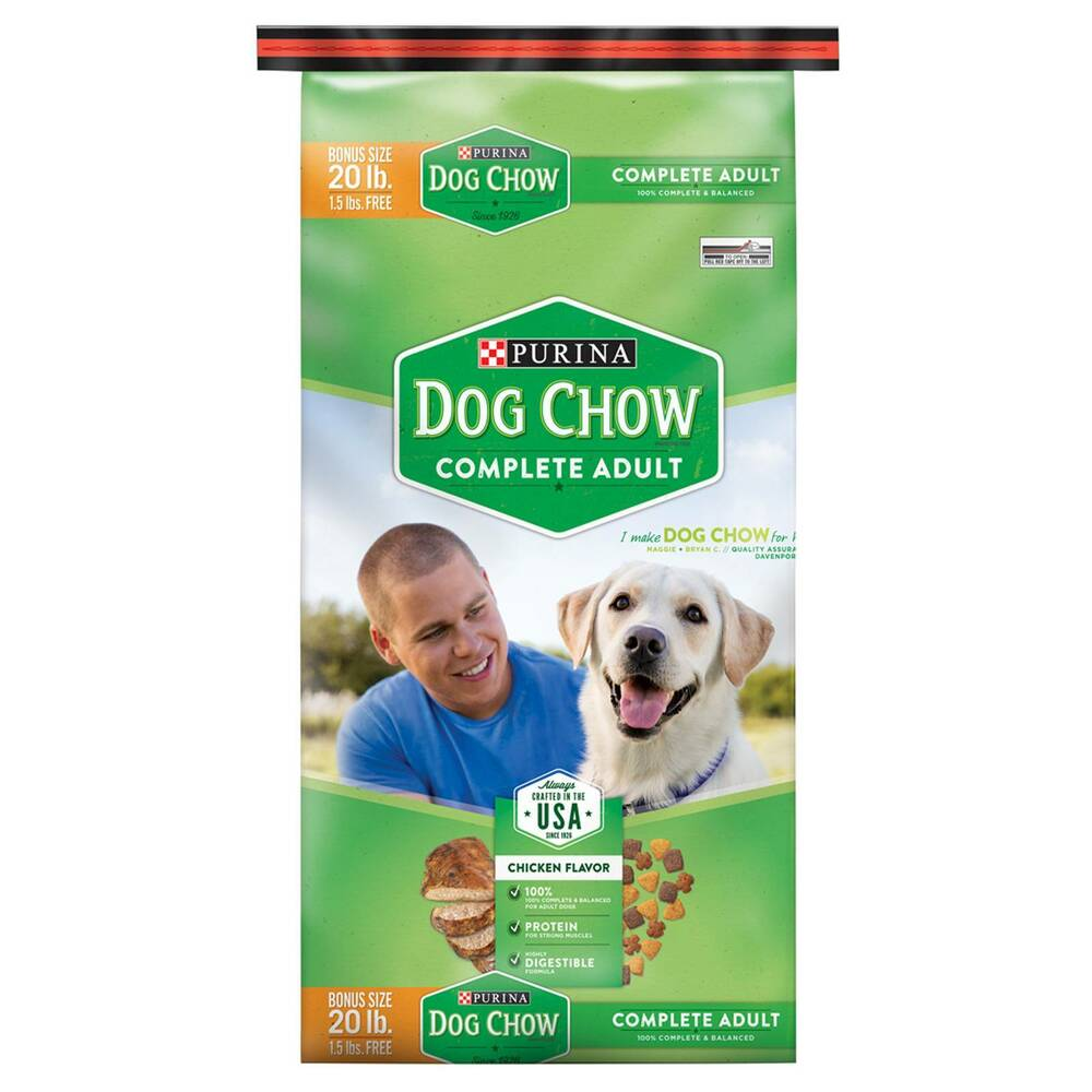 Purina Dog Chow Complete Dry Dog Food 18 5lb Bag Ebay