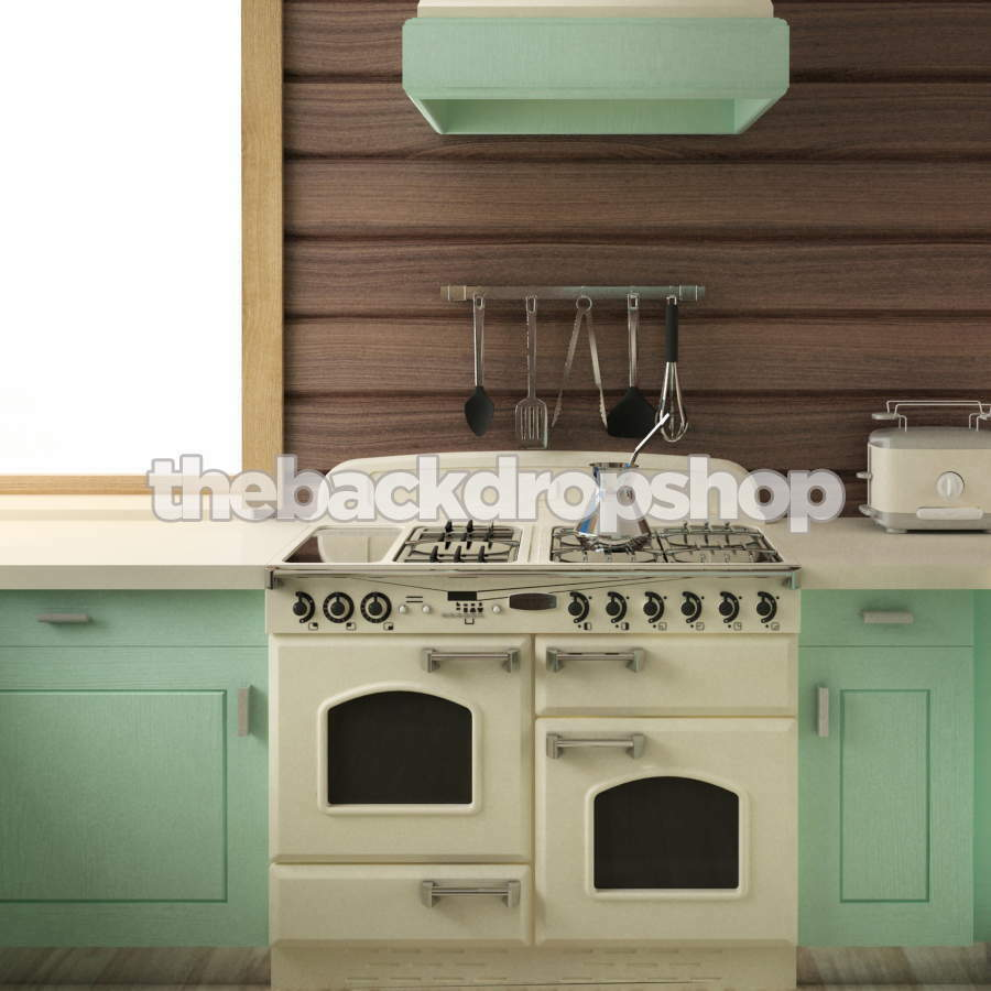 Vintage Kitchen Photography: Retro Kitchen Photography Backdrop