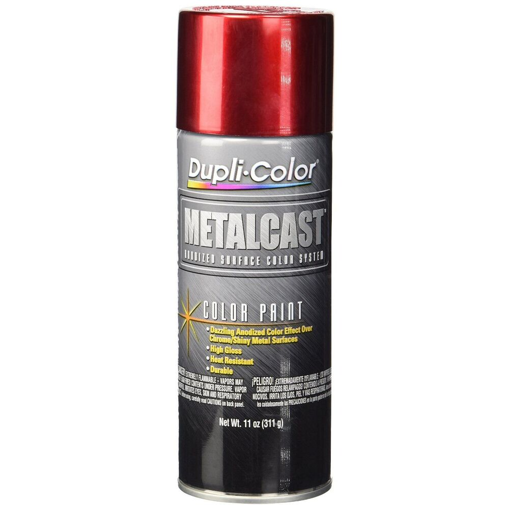 Duplicolor Mc200 Metal Cast Red Anodized Spray Paint Aerosol 11oz Ebay