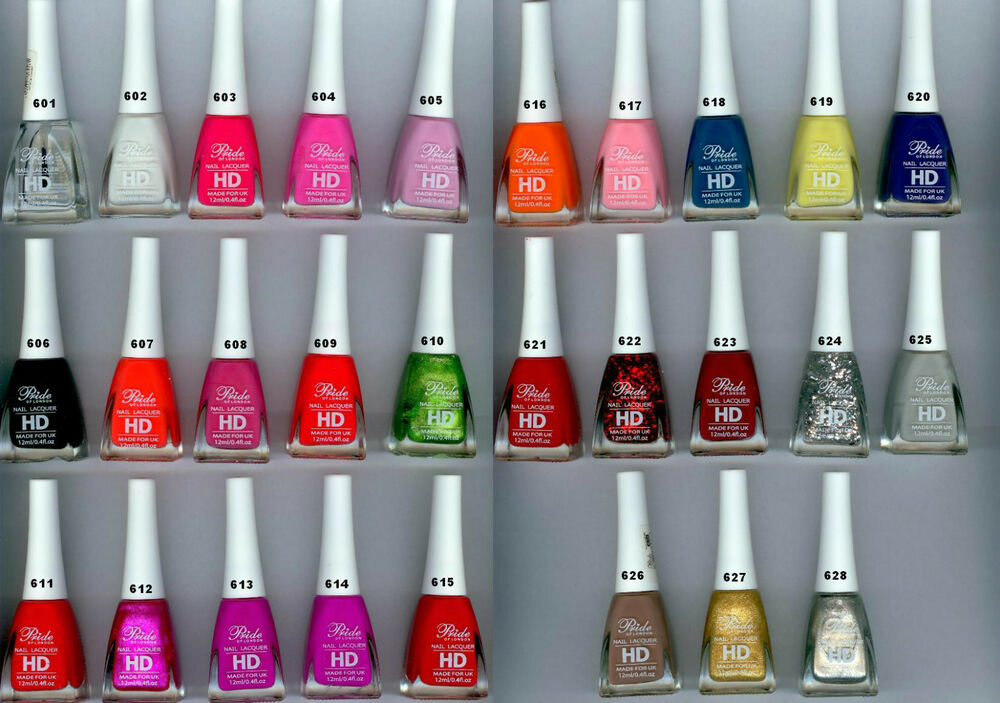 PRIDE HD LACQUER NAIL POLISH -FULL COLLECTION - ALL COLOURS 12ML ...