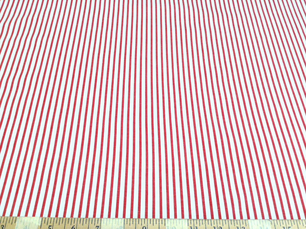 discount fabric quilting cotton cherry red and white stripe 10 yard lot ct009 ebay. Black Bedroom Furniture Sets. Home Design Ideas