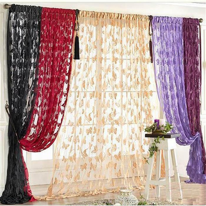 Drop Beaded String Door Window Curtains Divider Lace Curtains Room ...