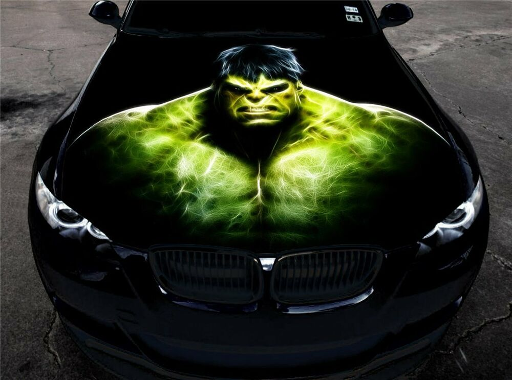 Full Color Vinyl Car Hood Graphics Sticker The Incredible