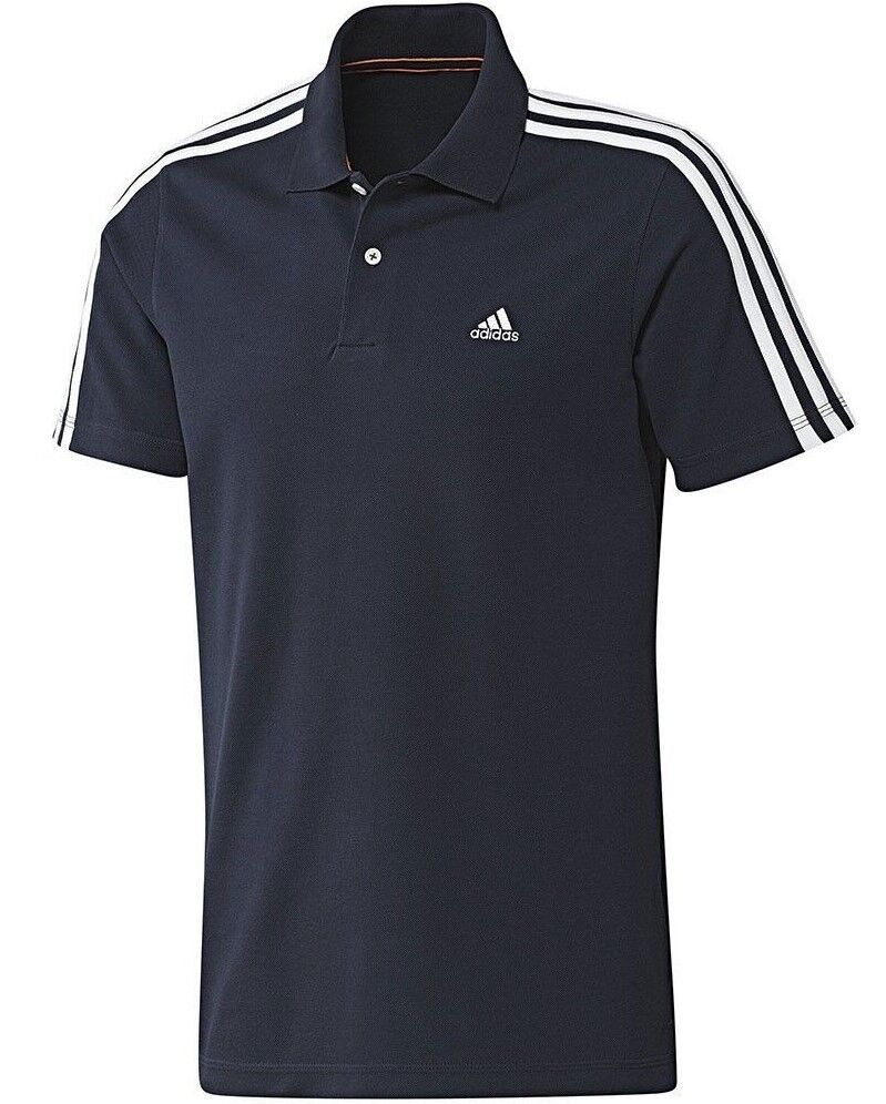 New mens adidas essentials climalite polo shirt t shirt for Men s athletic polo shirts