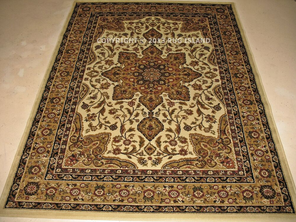 5x8 5 39 3 x 7 39 2 traditional oriental persian cream ivory area rug ebay. Black Bedroom Furniture Sets. Home Design Ideas