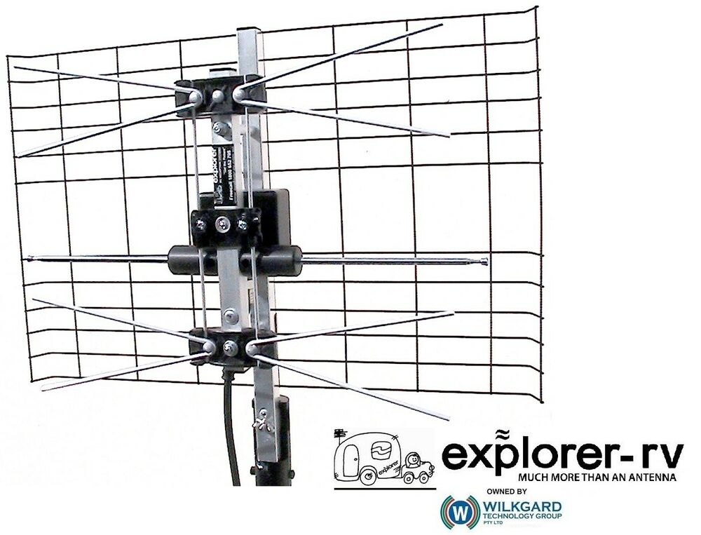vhf uhf camper caravan tv aerial antenna kit c  w cable
