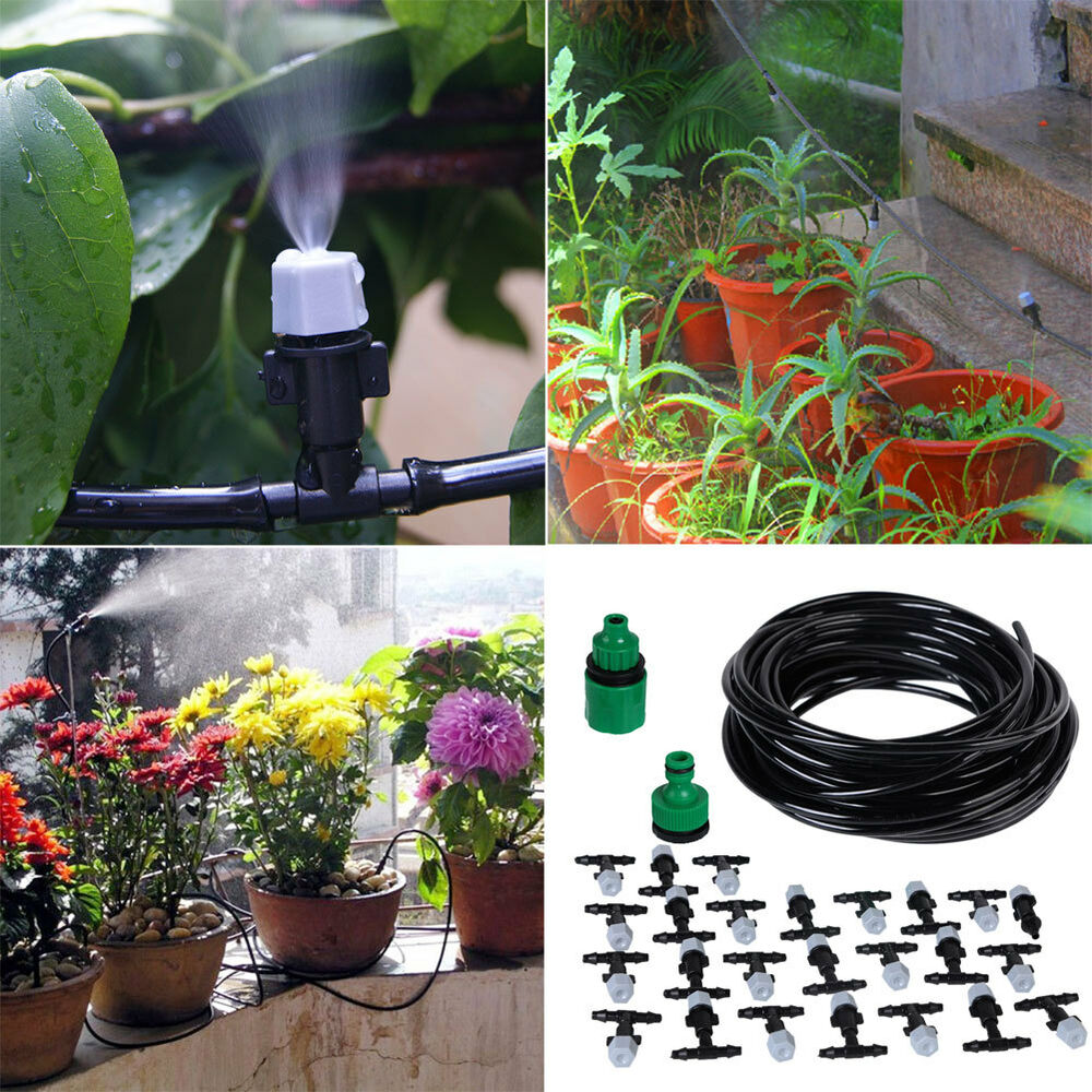 Micro drip irrigation system plant self watering garden