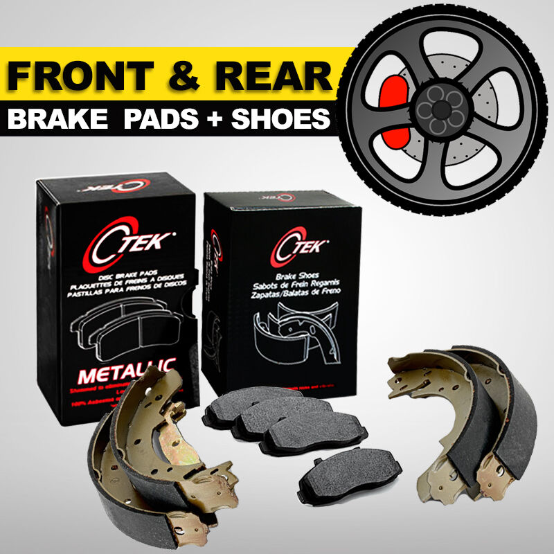 1999 Toyota Camry Brake Pads: FRONT + REAR Brake Pads & Shoes 2 Complete Sets JEEP