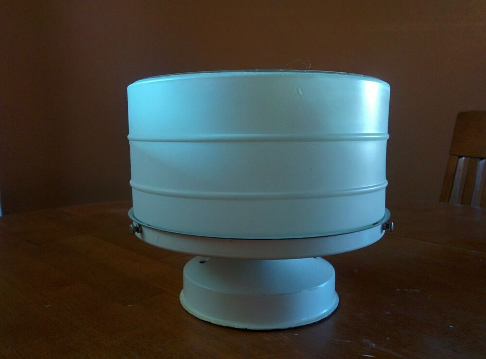 Vintage art deco white glass ceiling light fixture kitchen - Art deco bathroom lighting fixtures ...