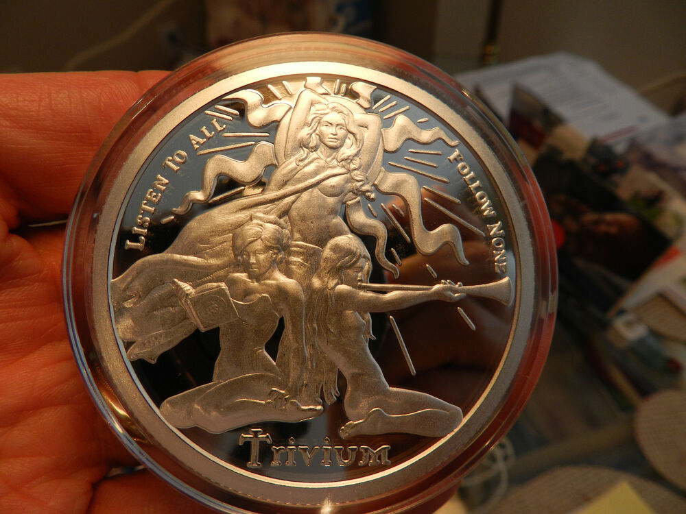 2016 Trivium Girls 1 Oz Silver Shield Proof 999 Pure
