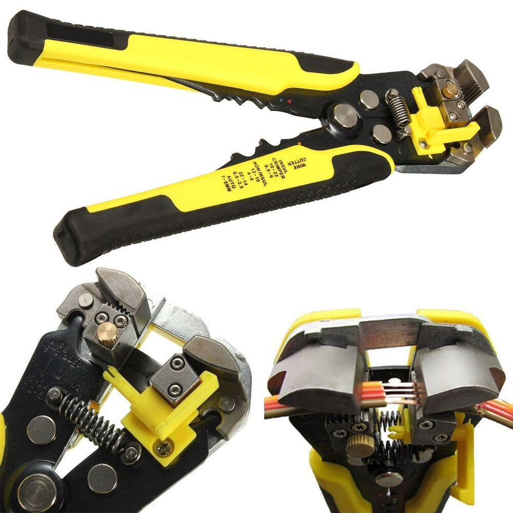 Wire Cable Cutter Stripping Stripper Tool Self Adjusting Crimper Hand Ultimate