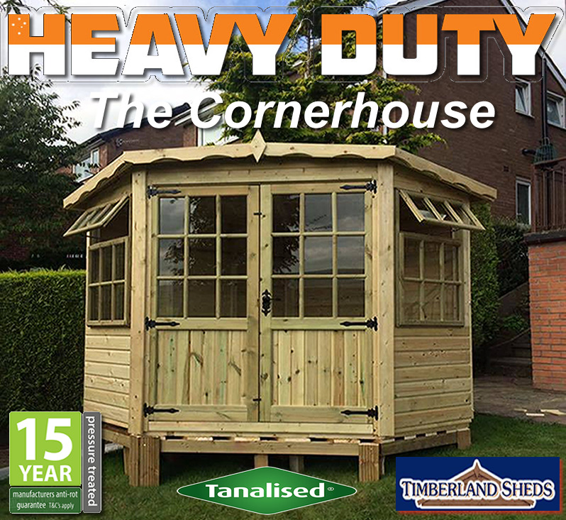 Fitted Delivered Corner Summerhouse Fully T G