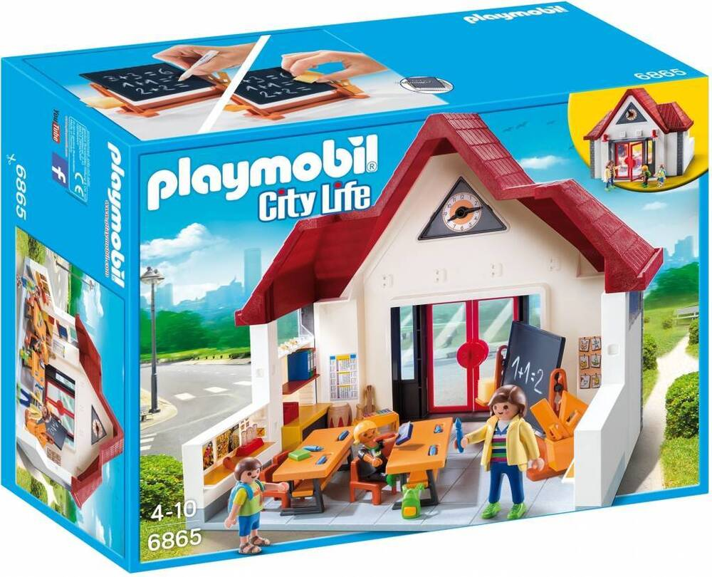 playmobil 6865 city life school house ebay. Black Bedroom Furniture Sets. Home Design Ideas