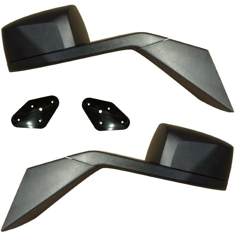 VOLVO TRUCK VN VNL 630 670 730 780 Side Hood Mirror Pair Left and Right + Plates | eBay